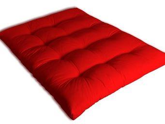 Futon Design - matelas 140 x 190 cm futon rouge - Matelas À Ressorts