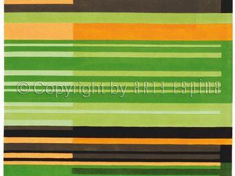Arte Espina - tapis de salon colour codes vert 170x240 en acryli - Tapis Contemporain
