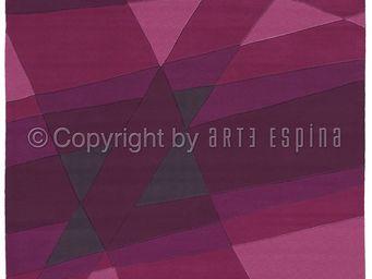 Arte Espina - tapis de salon luminous 1 violet 140x200 en acryli - Tapis Contemporain