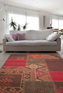 NAZAR - tapis contempo 80x150 red - Tapis Contemporain