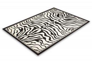 NAZAR - tapis contempo 120x170 black-white - Tapis Contemporain