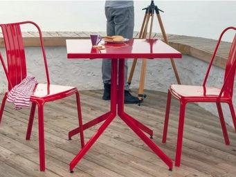 PROLOISIRS - ensemble urban 1 table 2 chaises en aluminium roug - Salle À Manger De Jardin