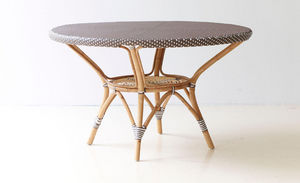 Sika design - table de jardin en rotin danielle - Table De Jardin