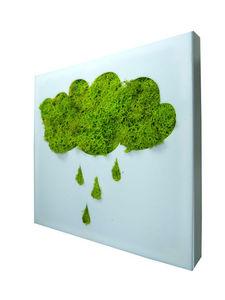 FLOWERBOX - tableau végétal picto nuage en lichen stabilisé 20 - Tableau Végétal