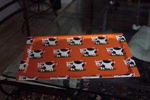 DHO - Don Hierro - plateau vaches en stratifié orange 48x37cm - Plateau
