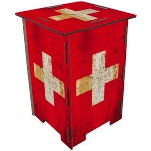 WERKHAUS - tabouret drapeau suisse - Tabouret