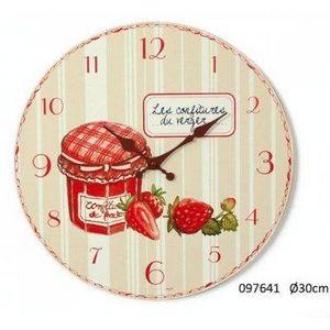 FAYE - horloge confiture - Horloge Murale