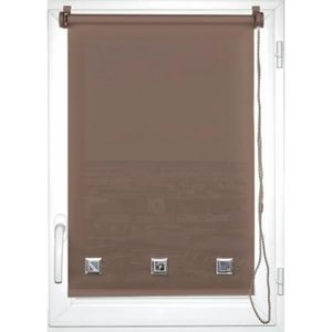 Luance - store enrouleur tamisant oeillets 45x180cm taupe - Store Occultant