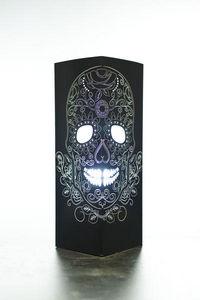 W-LAMP - flower skull - Lampe À Poser