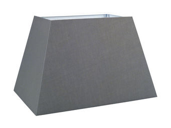 Interior's - abat-jour rectangle gris - Abat Jour Rectangulaire