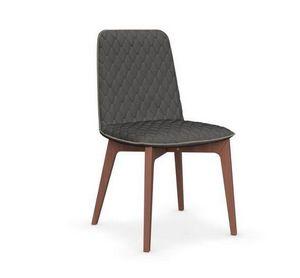 Calligaris - chaise sami en hêtre et tissu gris foncé de callig - Chaise