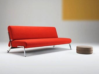 INNOVATION - canapé lit design debonair rouge orange convertibl - Banquette Clic Clac