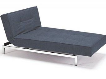 INNOVATION - meridienne design splitback bleue convertible lit - Banquette Clic Clac