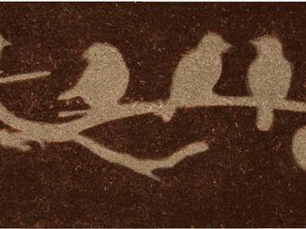 BEST FOR BOOTS - paillasson marron oiseaux sur branche en coco 120c - Paillasson