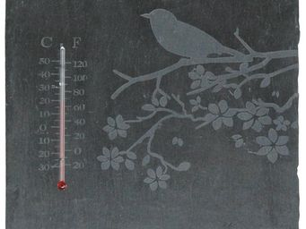 WORLD OF WEATHER - thermom�tre oiseau en schiste - Thermom�tre
