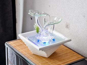 ZEN LIGHT - fontaine cascade flower avec éclairage multicolore - Fontaine D'intérieur