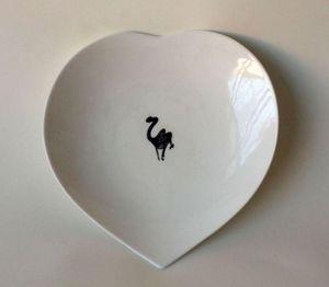 SISSIMOROCCO - coeur - Assiette Plate