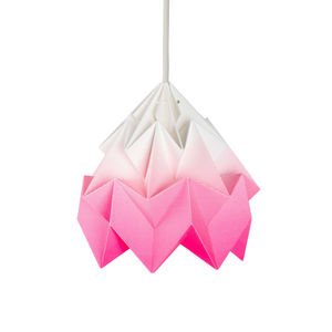 SNOWPUPPE - moth - suspension papier tie & dye blanc/rose fluo - Suspension