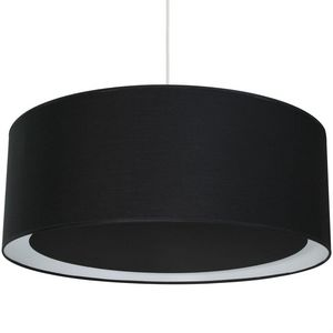 Metropolight - essentiel - suspension occultant ø58cm noir | susp - Suspension