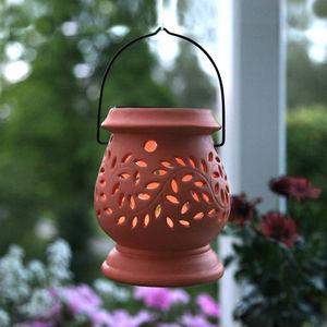 Best Season - clay lantern - lanterne solaire extérieur terracot - Lanterne D'extérieur