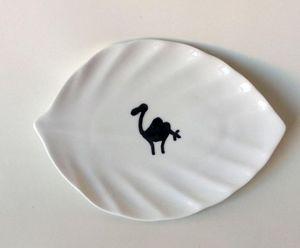 SISSIMOROCCO - feuille peinte à la main - Assiette Plate
