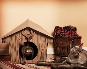 mpgmb - cabane de chat - Panier À Chat