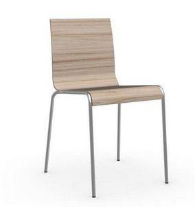 Calligaris - chaise online de calligaris piétement acier chromé - Chaise