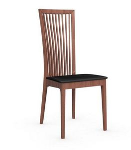 Calligaris - chaise philadelphia de calligaris structure noyer - Chaise