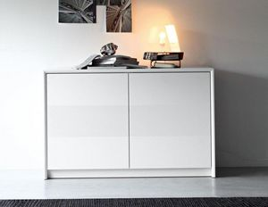 Calligaris - buffet password de calligaris blanc 2 portes - Buffet Bas