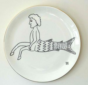 HMS STUDIO - roman graffiti - Assiette Plate