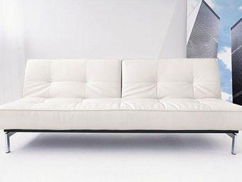 INNOVATION - canape lit design splitback blanc convertible 115* - Banquette Clic Clac