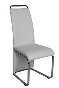 COMFORIUM - chaise simili cuir blanc moderne - Chaise