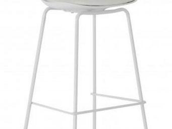 ID'CLIK - tabouret de bar avec dossier ray blanc - Chaise Haute De Bar
