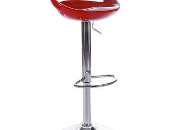 KOKOON DESIGN - tabouret de bar vénus rouge - Chaise Haute De Bar