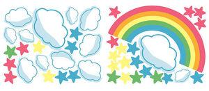 Wallies - stickers chambre bébé arc en ciel - Sticker Décor Adhésif Enfant