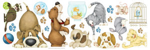 BORDERS UNLIMITED - stickers enfant l'animalerie - Sticker Décor Adhésif Enfant