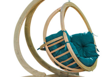 Amazonas - fauteuil balancelle globo avec coussin vert et sup - Balancelle