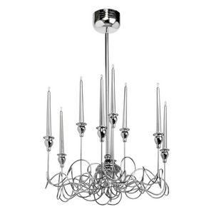 REGENBOGEN - lustre 9 chandelles métallique contemporain - Lustre