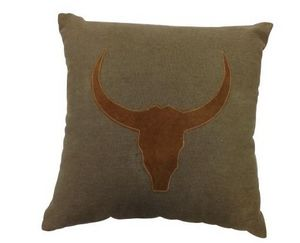 SHOW-ROOM - canvas/leather - Coussin Carr�
