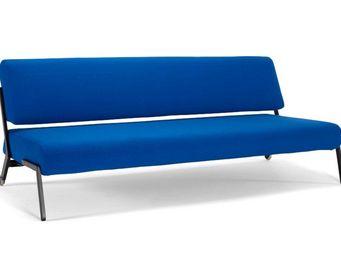 INNOVATION - canapé lit design debonair black bleu saphire conv - Banquette Clic Clac