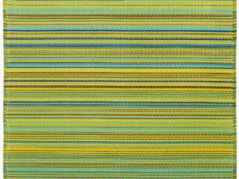 FABHABITAT - tapis intérieur extérieur cancun citron et pomme v - Tapis Contemporain