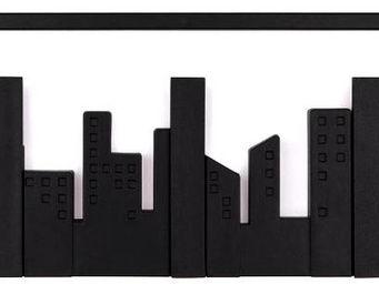 Umbra - porte-manteaux 5 crochets skyline noir 49,5x8x14,5 - Patère