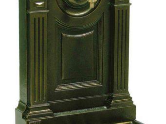 Fontes D'art De Dommartin - fontaine murale de jardin empire vieux bronze - Fontaine Murale D'extérieur