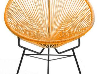 Delorm design - fauteuil extérieur spring orange en résine et acie - Fauteuil De Jardin