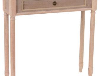 Amadeus - console faux tiroir en bois brice naturel - Console