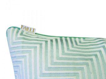 BAILET - coussin d�co prestige - 40x40 cm - vert d'eau - Coussin Carr�