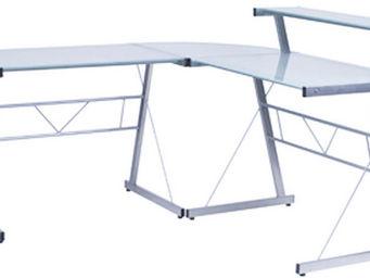 KOKOON DESIGN - bureau d'angle design delo verre sablé - Bureau
