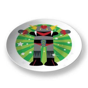 la Magie dans l'Image - assiette héros goldorak - Assiette De Présentation