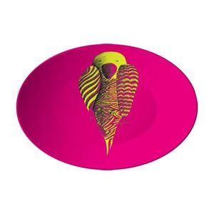 la Magie dans l'Image - assiette perroquet rose - Assiette De Présentation