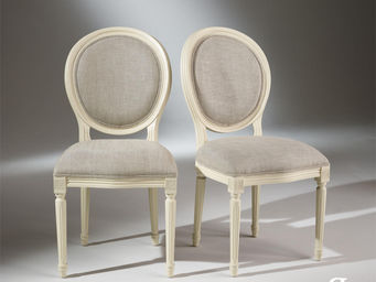 Robin des bois - 2 chaises médaillon blanches - Chaise Médaillon